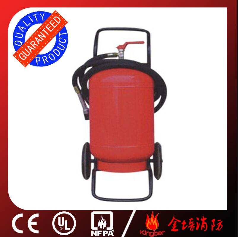 50KG Trolley Cold-Roll Steel ABC40 Dry Powder Fire Extinguisher for Warehouse Using with ISO