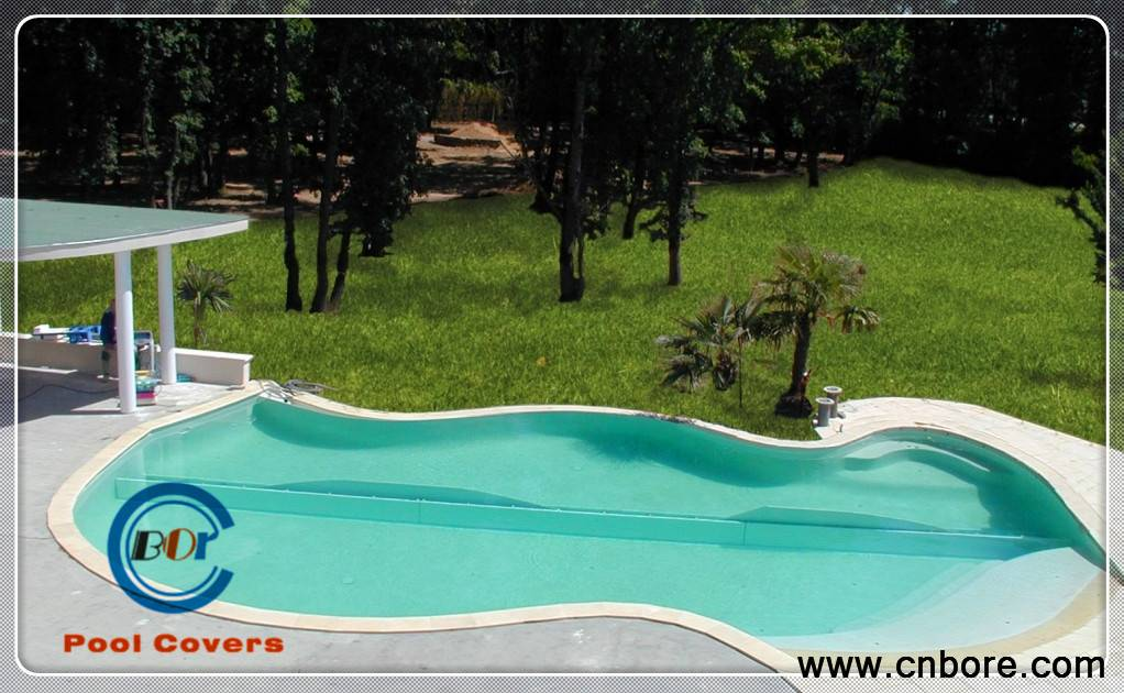 Hot sale Custom Size Motorized Pool Cover Undercover System With Roman Ended