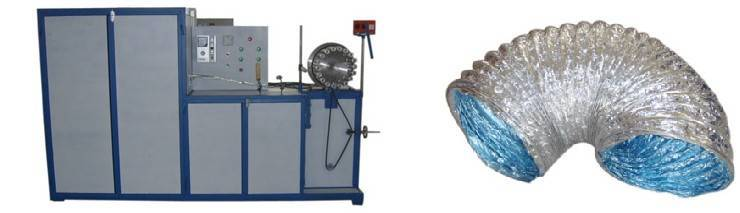 Aluminum steel wire duct machine