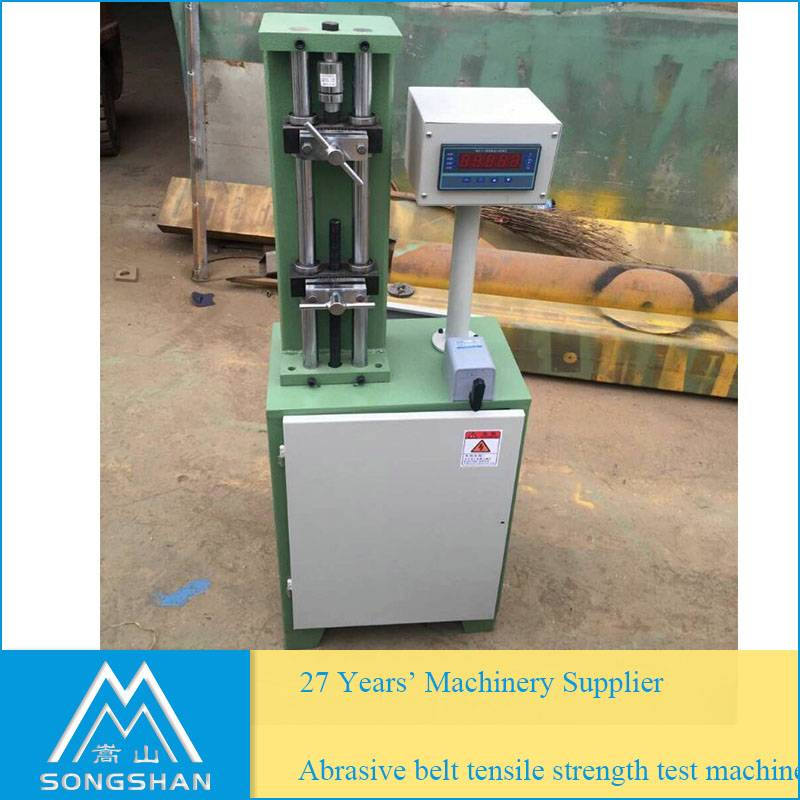Abrasive belt tensile strength testing machine