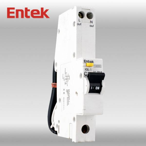 Residual Circuit Breaker with Overcorrect protection (RCBO) 1P+N CE 25A