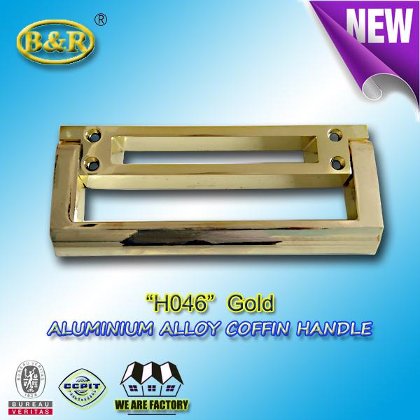 H046 Aluminium alloy coffin handle european style gold color