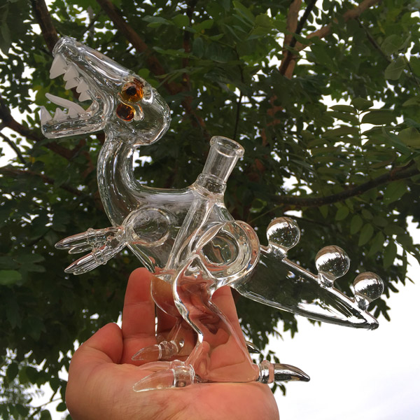 Trex dino glass water pipes dinosaur oil rigs dab rigs glass bong