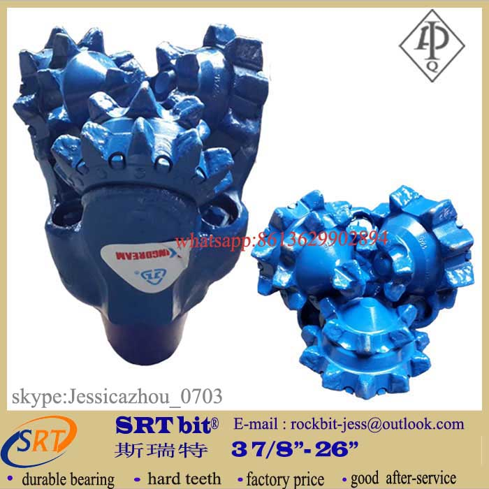 190mm milled tooth tri-cone rock bit for water well drilling
