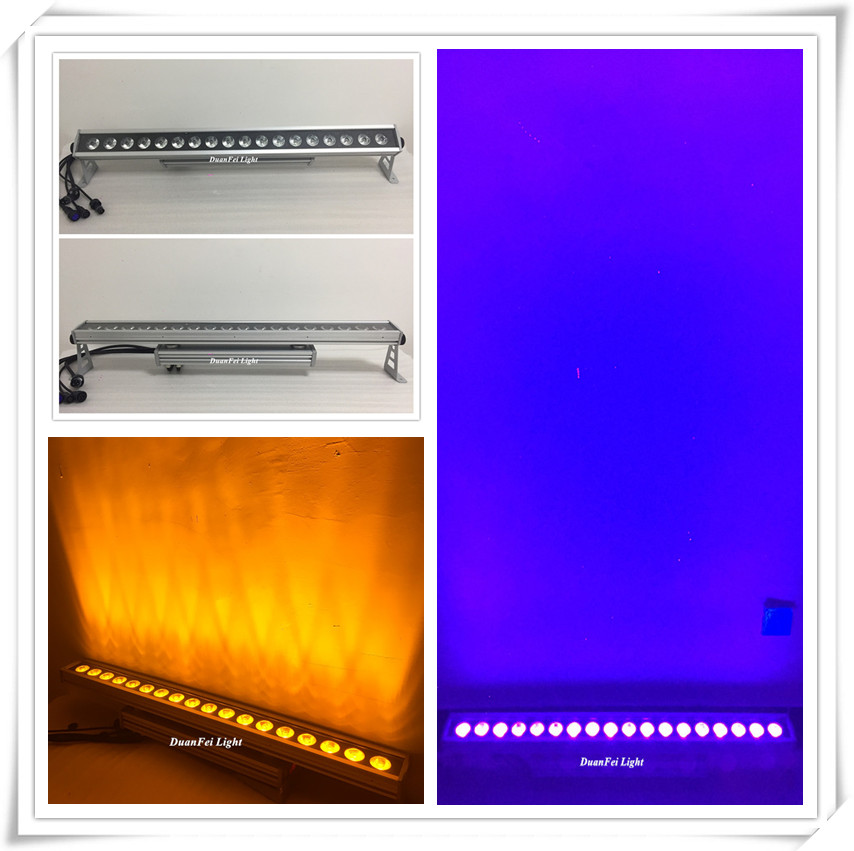 18x18w led wall washer outdoor rgbwa uv led strip wall washer bar