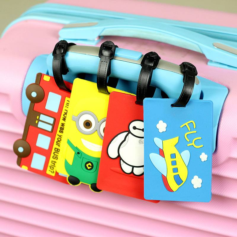 cartoon figure character pvc baggage tag
