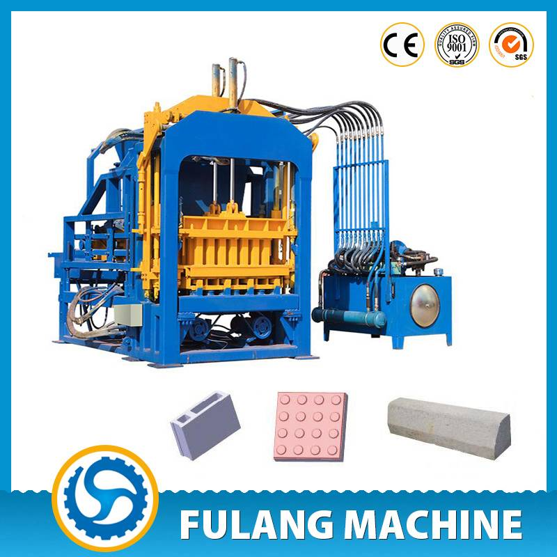 QTF4-15C fully automatic fly ash concrete hollow brick making machine for sale