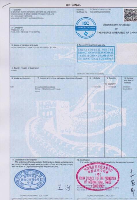 FTA Certification China Australia offer