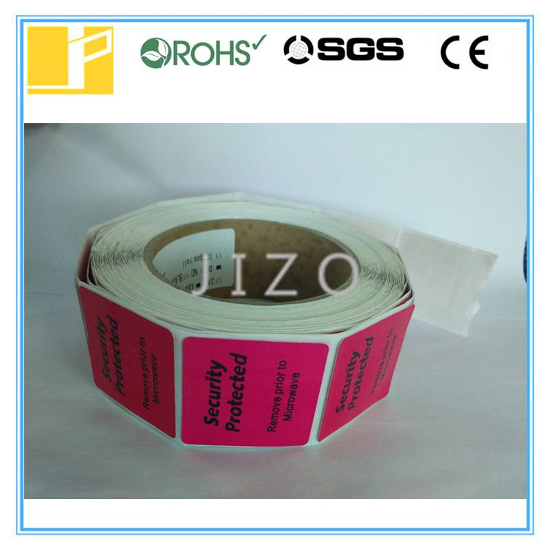 Frozen rf label with red color