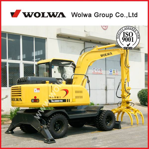manufacturer directly supply DLS 880-9A 8tons Wheel timber grab