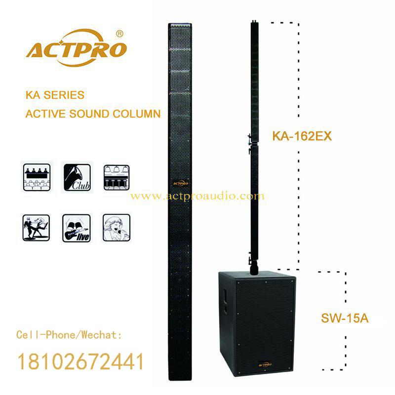 Column Speaker Line Array System Modular Actpto Audio Active