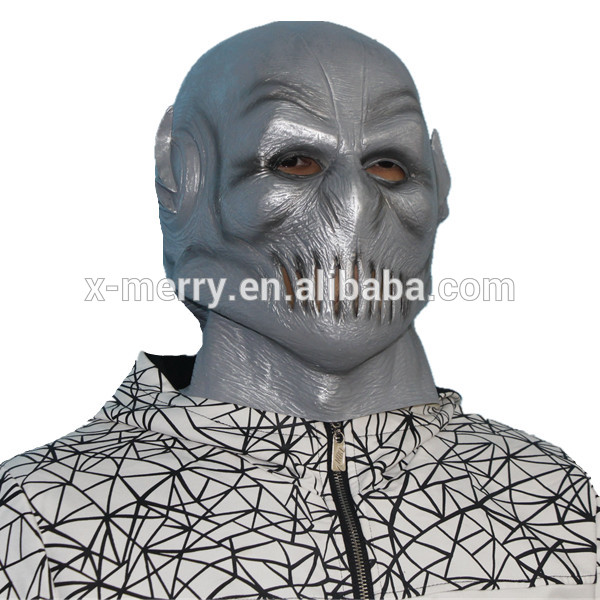 X-MERRY TOY The Flash Mask Silver Latex Full Head Helmet Movie Halloween Cosplay x14062