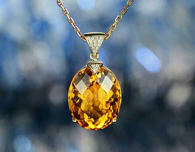 Yellow Semiprecious Stone jewelry fashion bikini earring necklace set bridal jewelry for women