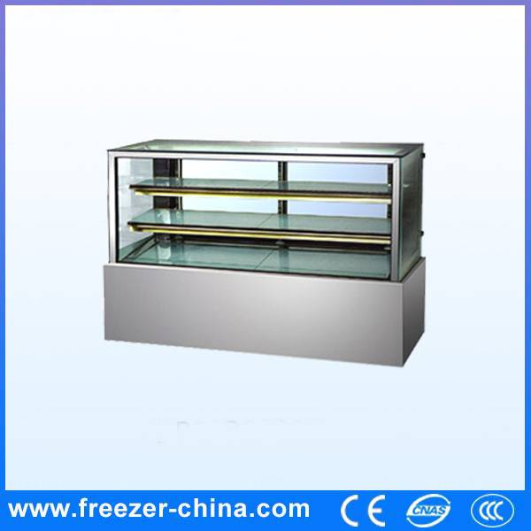Right Angle Marble Cake Display Freezer