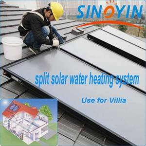 Split solar thermal water heater of 200 liter