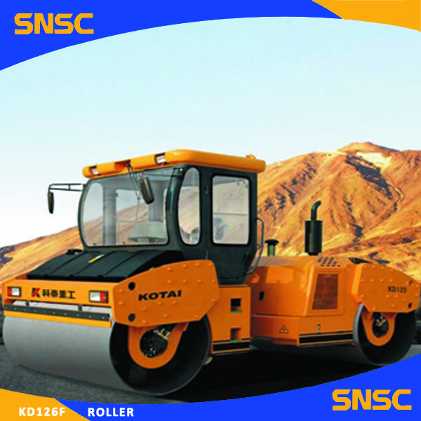 KD126 Road Roller Double Steel Road Roller