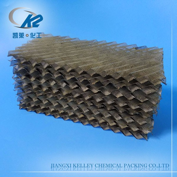 Metal mesh corrugated packing