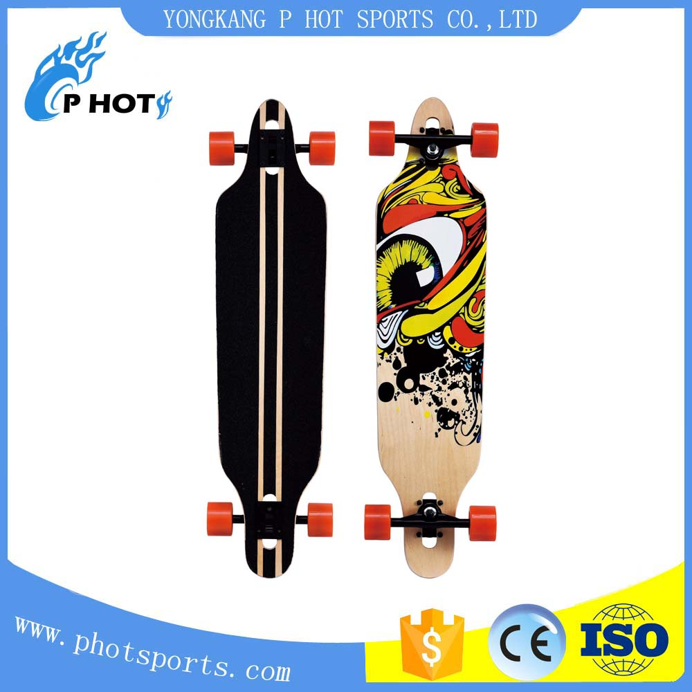 38 inch long board skateboard 9 layer Chinese Maple skate board canadian board skateboard