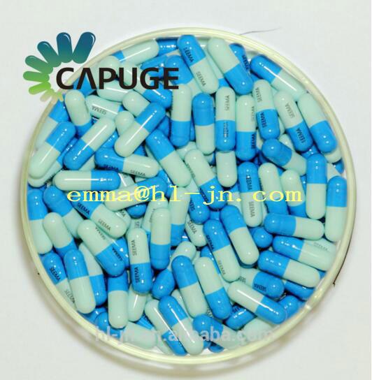 Empty Hard Gelatin Capsule Shells Bulk Blue Colored Size 0