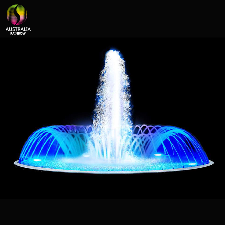 Customized Outdoor LED Fountain With Colorful Waterproof LED Lights