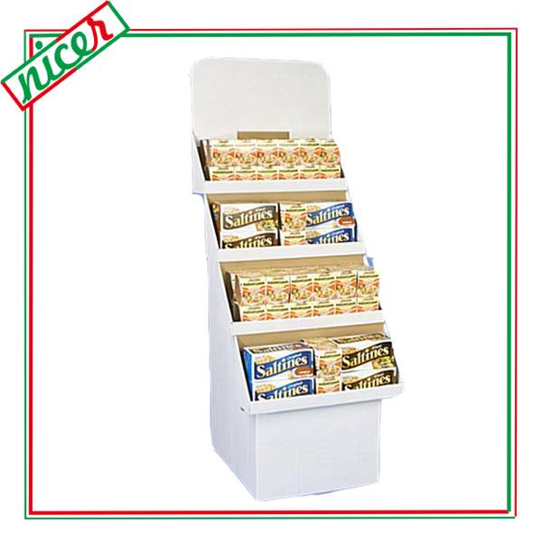 Strong corrugated material Biscuit Tiers Display Stands