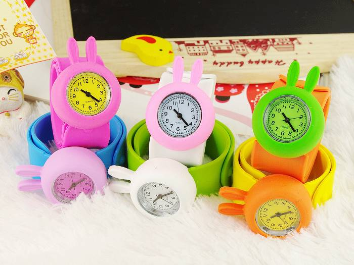 Charm Bunny Silicone Slap Watches For Kids Wholesales