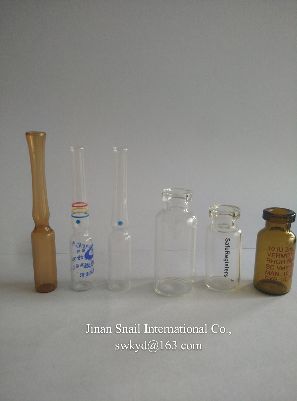 glass ampoules and glass vials