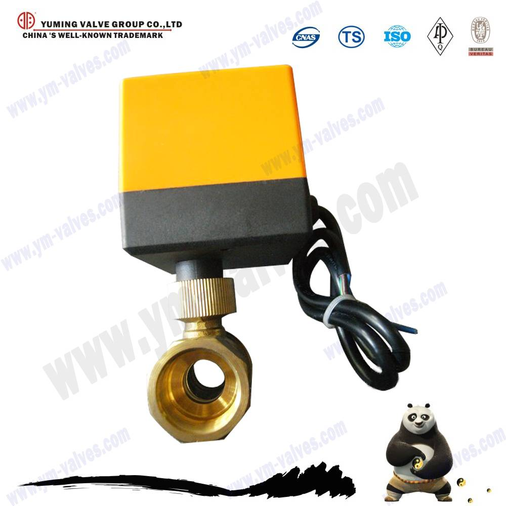 motorized brass ball valve and motorized ball valve