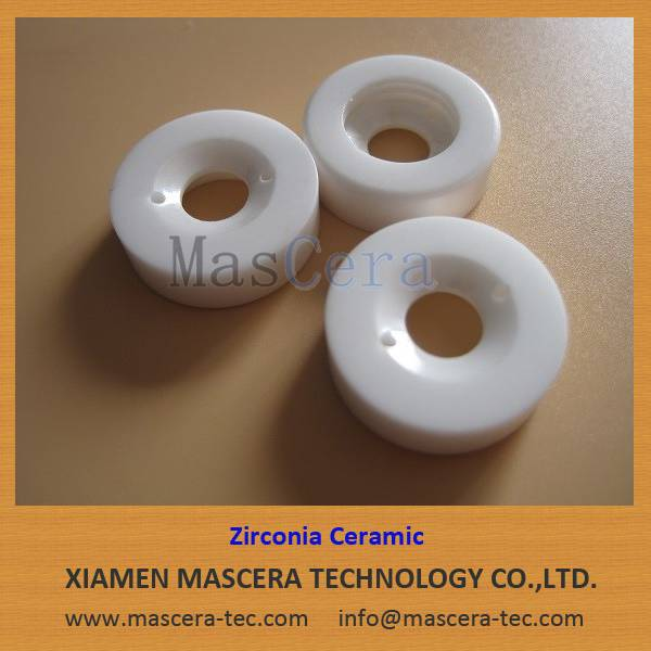 High Wear Resistance/High Hardness Zirconia ZrO2 Ceramic Rings