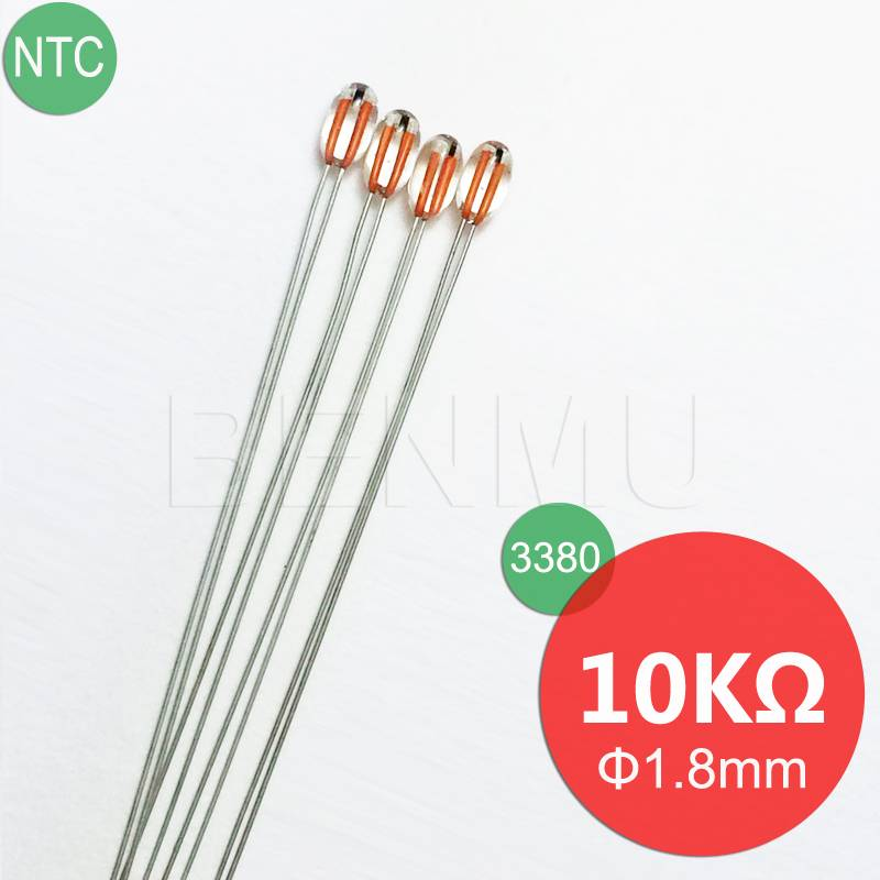 MGB18 10K 1% 3380 3435 Glass NTC Thermistor for temperature sensor in Refrigerator+Air-conditioner+H