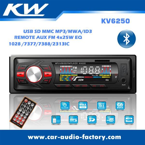 KV6250 Car MP3 Player with FM Radio/EQ Function