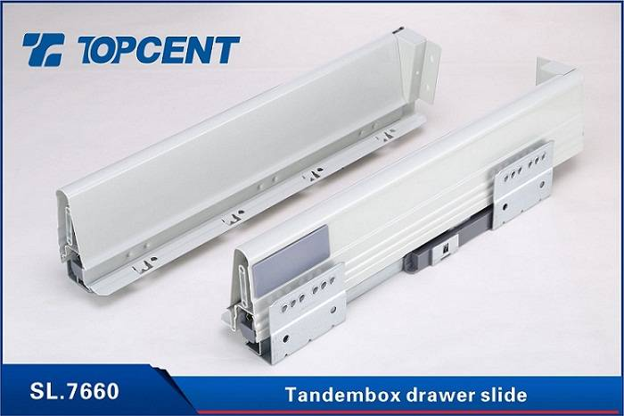Kitchen drawer tandem metal box undermount drawer slides