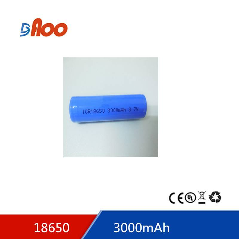 Li-ion18650 battery pack 3.7 3000mAh rechargeable battery