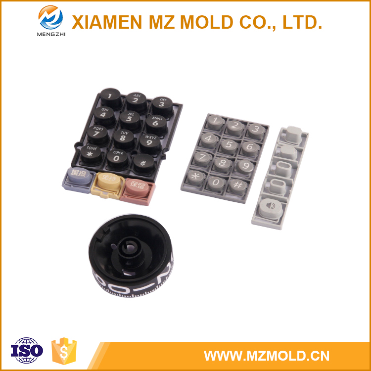 Precise 2-Material Rubber Keys by Injection Mold