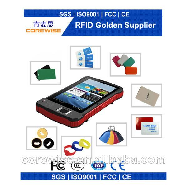 android handheld rfid card reader with fingerprint,bluetooth,wifi,gps,3g--A370