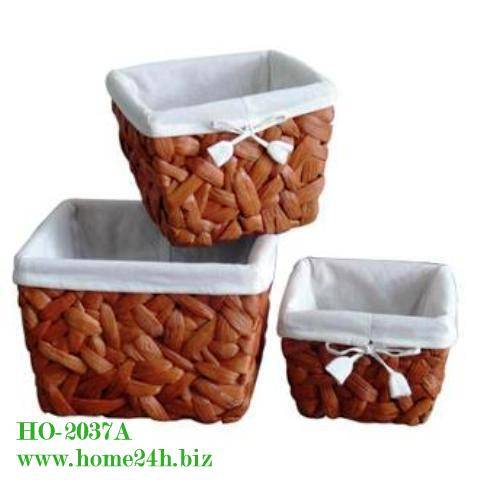 Handmade Water Hyacinth Storage Baskets S/3, high quality & cheap price