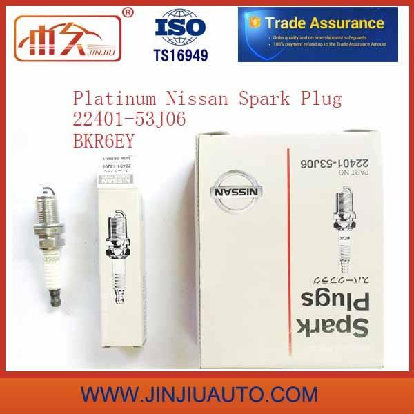 Factory Whoelsale Platinum for Nissan Spark Plugs 22401-53j06 Bkr6ey