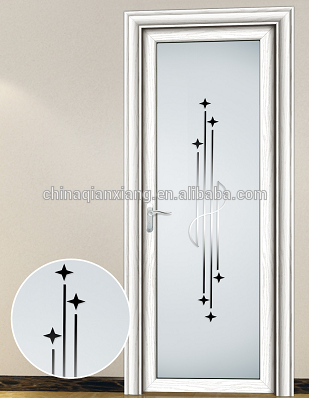 Wholesale Aluminum Alloy Toilet Door, 100% Cheap Interior Finished Bathroom Door