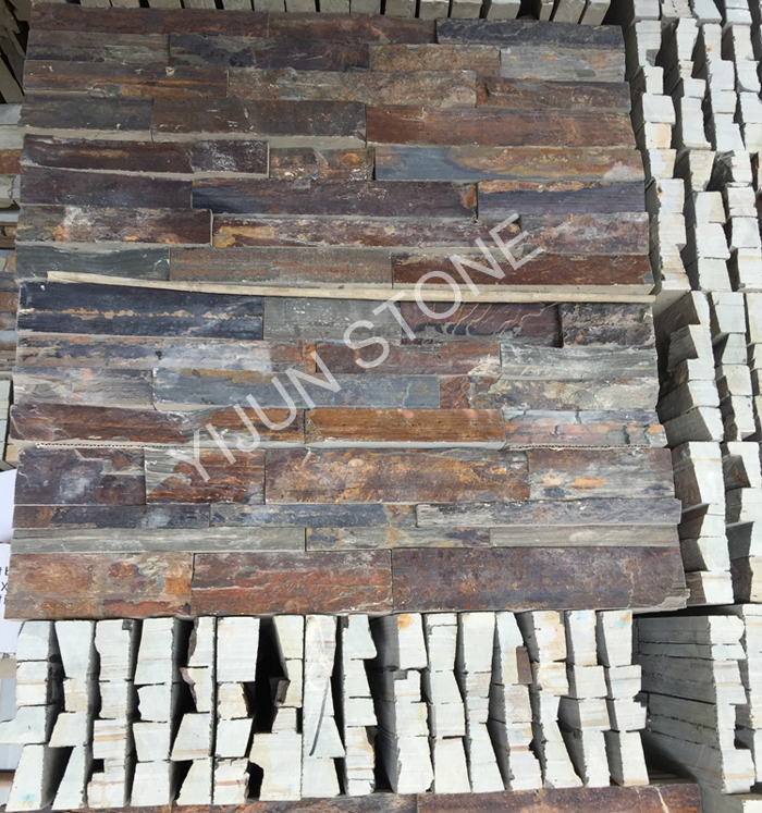 YIJUN STONE/ Natural surface rusty stone/ Fireplace stone/ TV wall stone