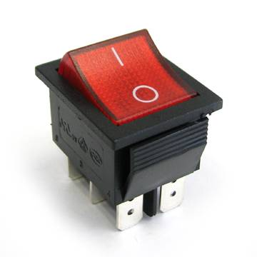 DPST Double pole 4-6 pins Rocker Switches with/without illuminated On-Off /On-On Manufacture China