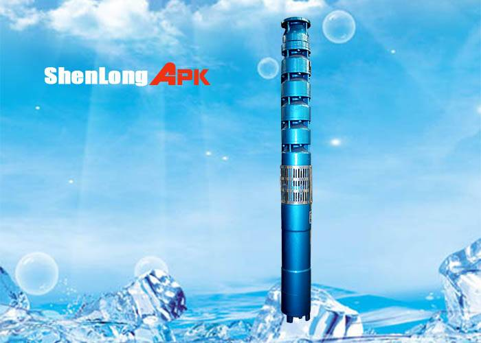 175QJ series submersible deep well pump, cast iron and blue pump