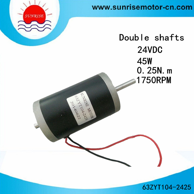 63zyt 45W 0.25n, M Double Shafts High Speed Magnet DC Motor