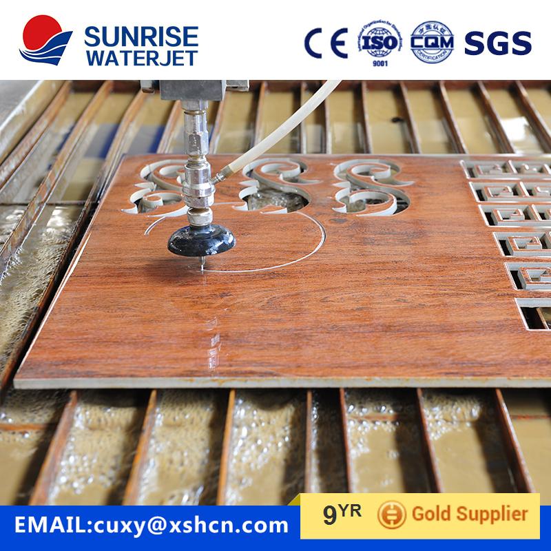 waterjet cutting machine for medallion by marble. tile