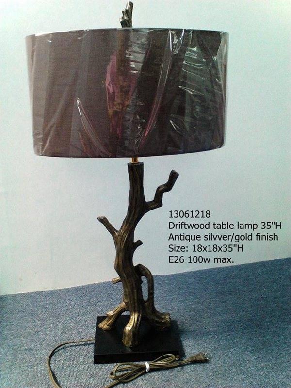 drift wood table lamp 13061218