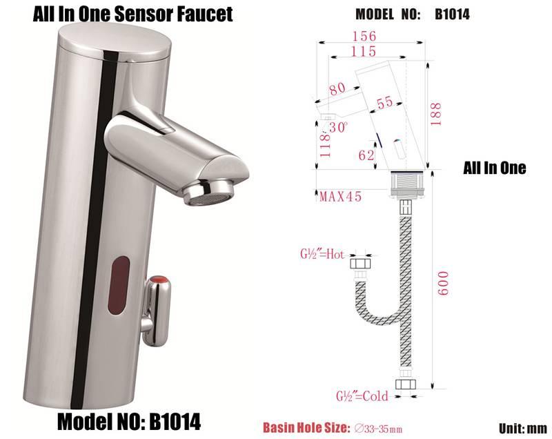 auto sensor taps faucet model :B1014