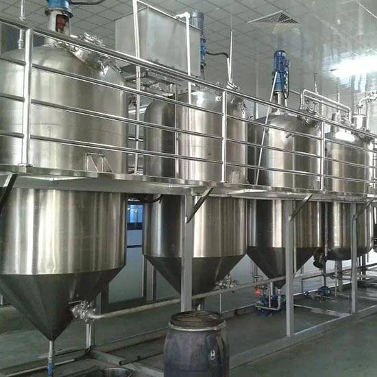 Palm oil refining machine cotton seed crude oil refinery plant