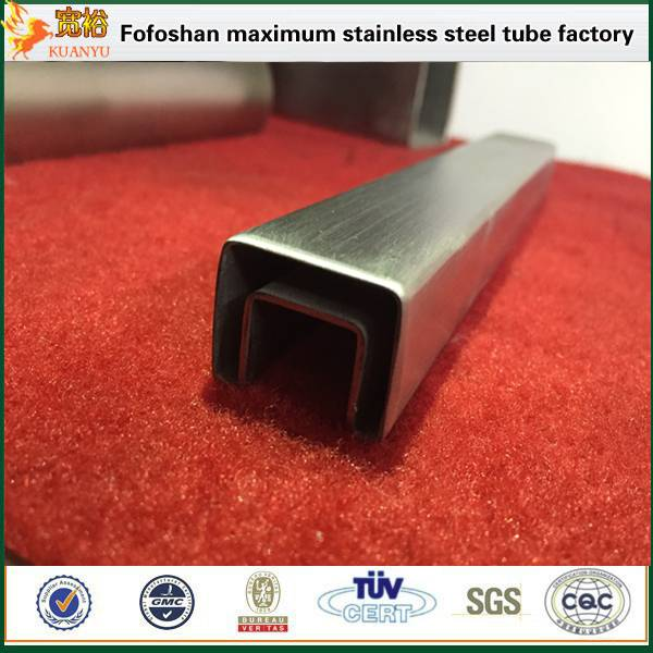 tp316 custom shape stainless steel elliptical tube/groove tube for construction manufacturer