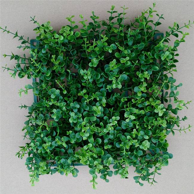 Artificial plant boxwood mat shrubs for panels