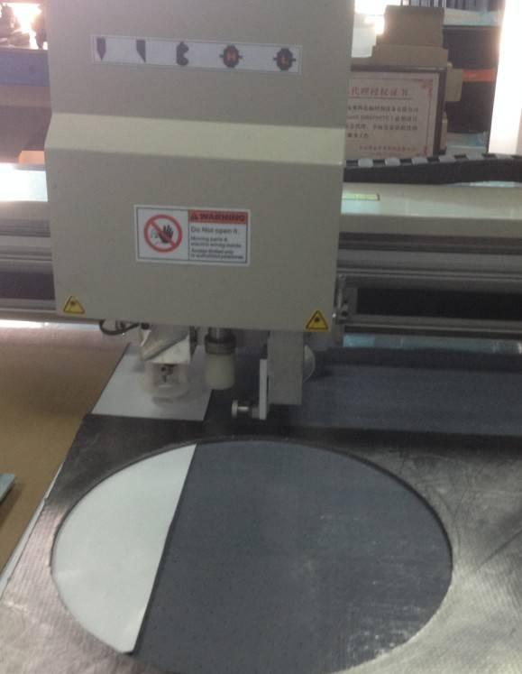 PTFE teflon copper sheet Stainless Steel Sheet gasket drawing creasing marking machine