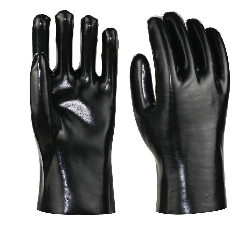 27cm black smooth finished  PVC working safety gloves